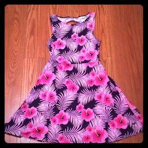 PINK HAWAIIAN FLOWER SUNDRESS